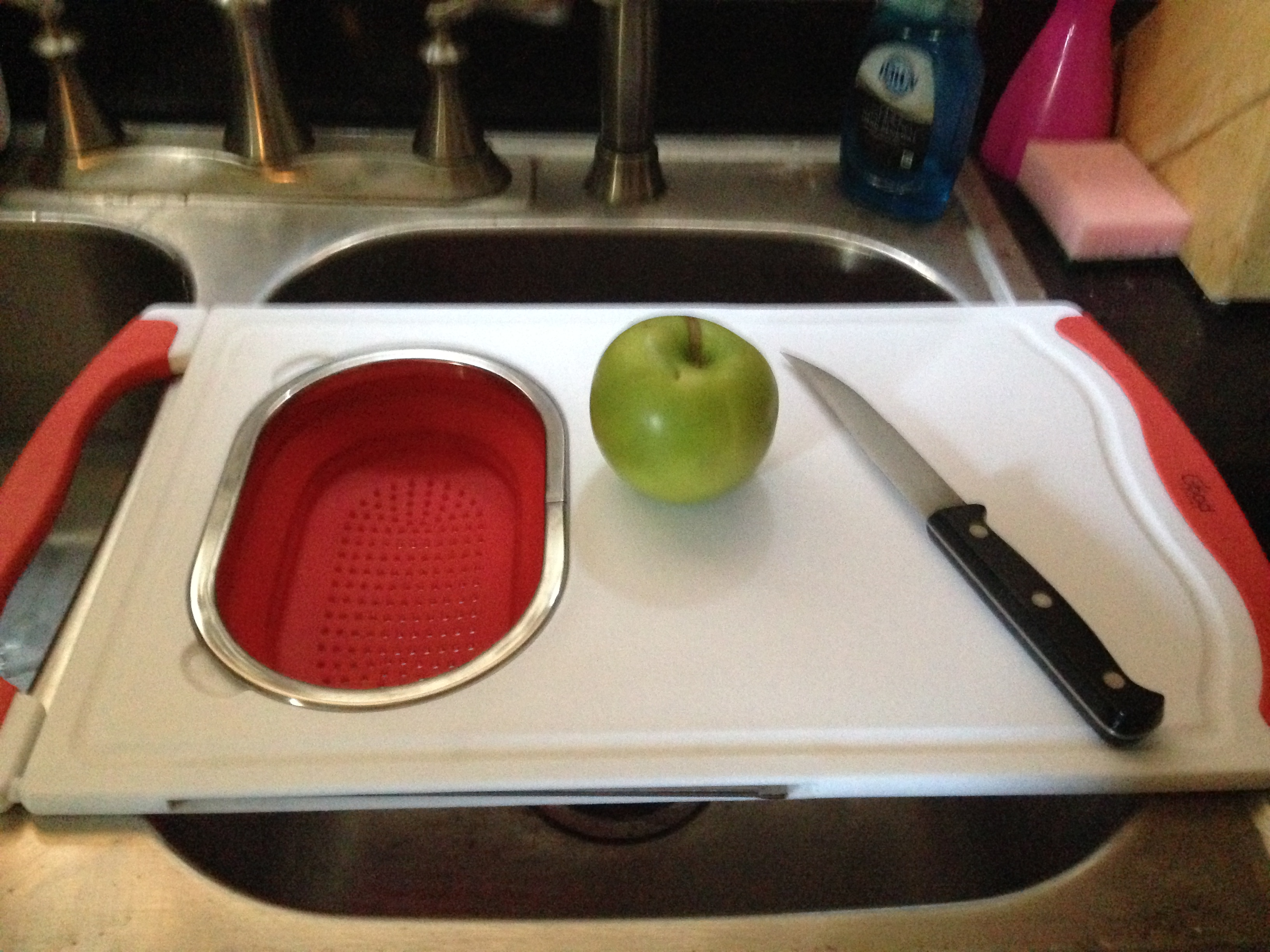 I Have Found A Great Over The Sink Cutting Board With Collapsable,  Removeable Colander By Good ...