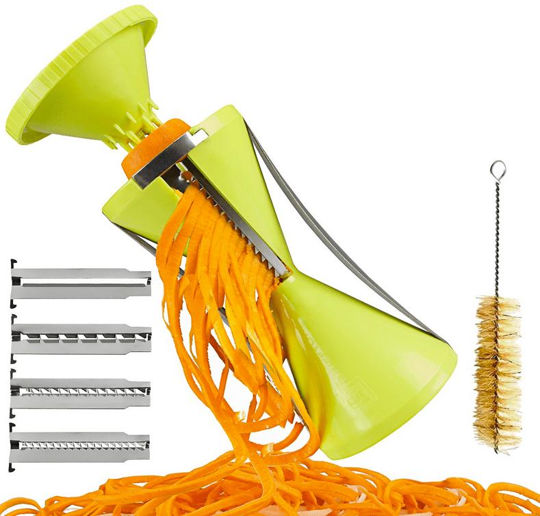 Brieftons NextGen Spiralizer 4-Blade Vegetable Spiral Slicer -- Perfect Veggie Spaghetti-Pasta Maker-1