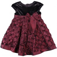 isobella_and_chloe_velvet_rose_dress_size_6-12_months