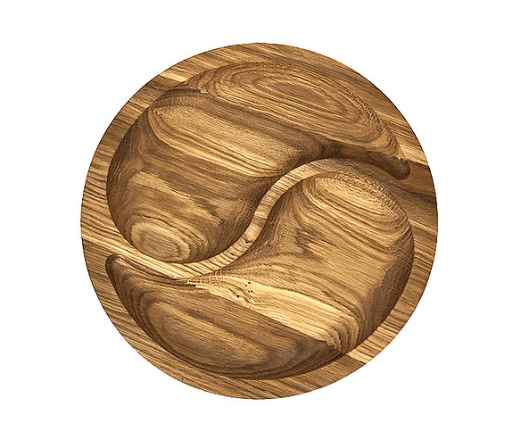 Website Screenshot-Wooden Craft Two Section Wooden Plate