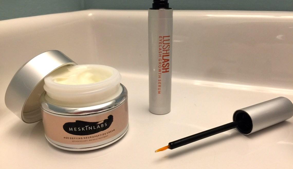 Get Lush Lashes Fast - Meskinlabs Lush Lash Eyelash Growth Serum and Age-Defying Moisturizer