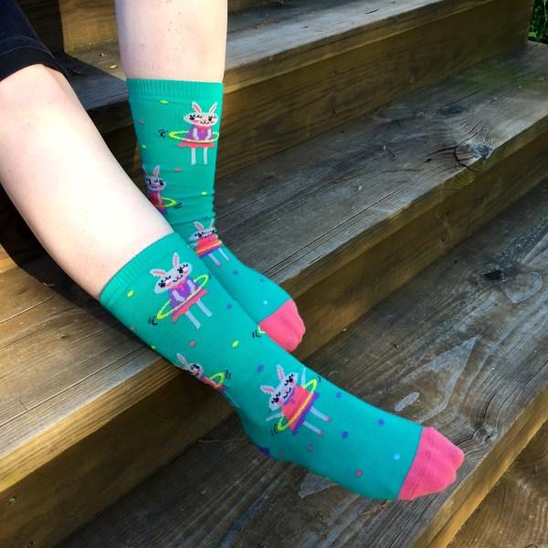 Sock It To Me Socks -- Hula Hoopin' Bunnies