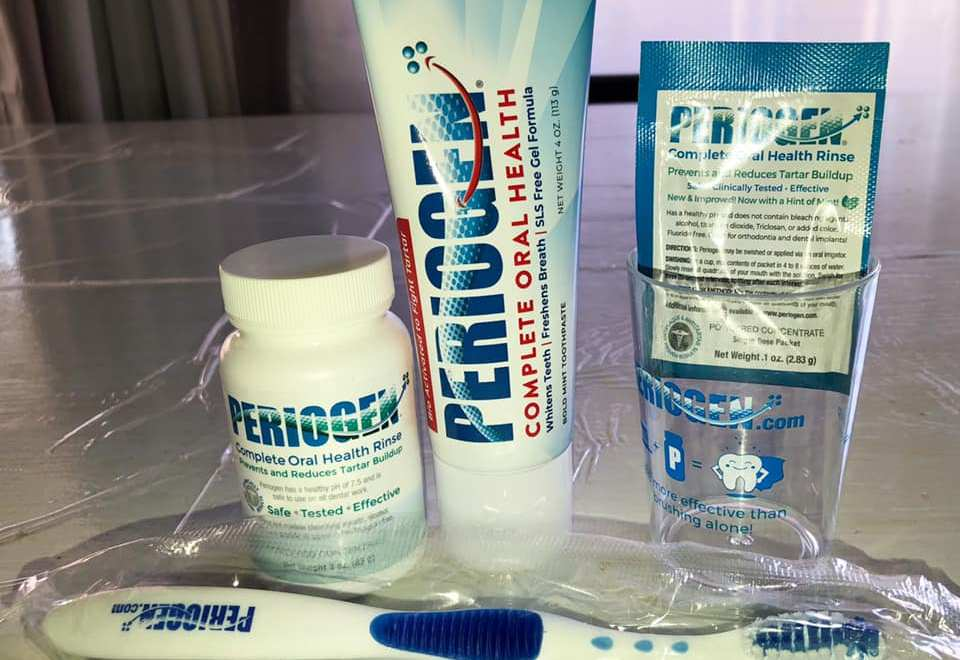 Healthy Teeth and Gums using Periogen