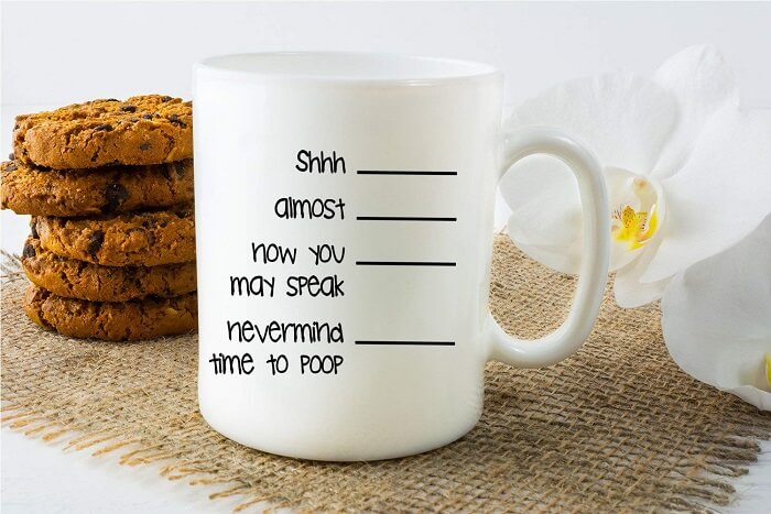 Nevermind, Time To Poop Mug