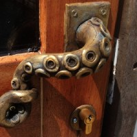 Steampunk Octopus Door Handle