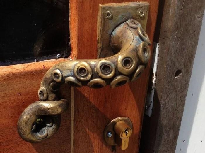 Steampunk Octopus Door Handle