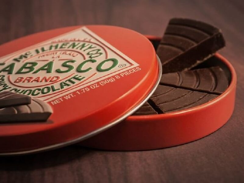 Tabasco Dark Chocolate Wedges