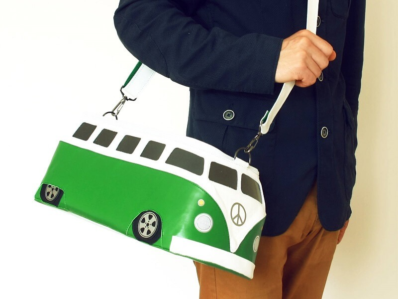 VW Bus leather bag