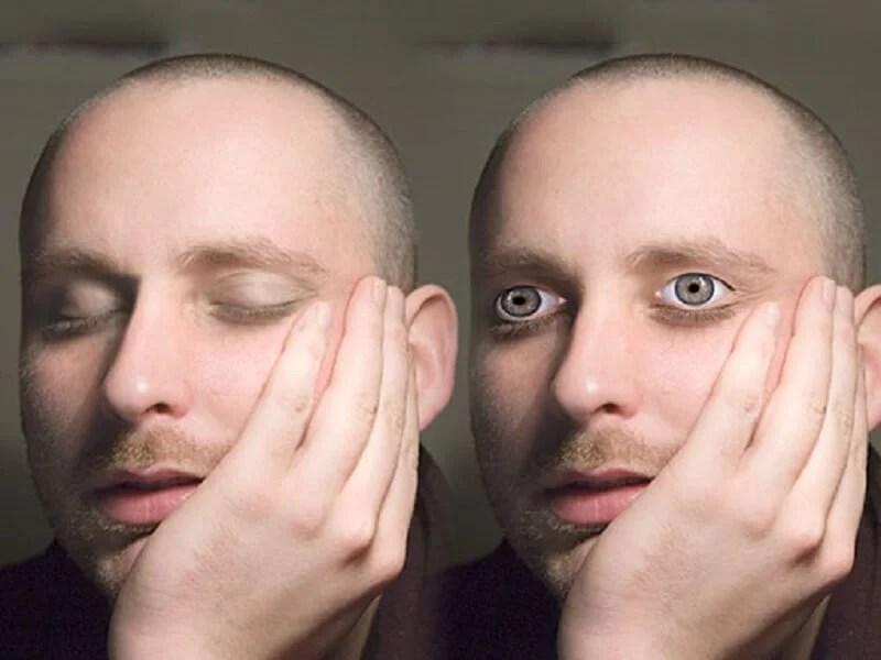 Fake Awake Sleeping Eye Stickers