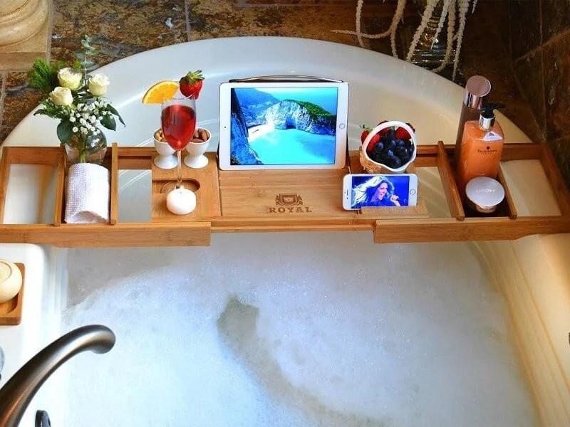 Luxury Bathtub Caddy Tray