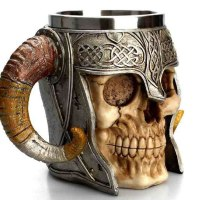 Viking Ram Horned Beer Mug