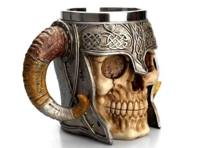 Viking Ram Horned Beer Stein