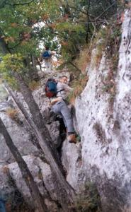 hiking up the saleve
