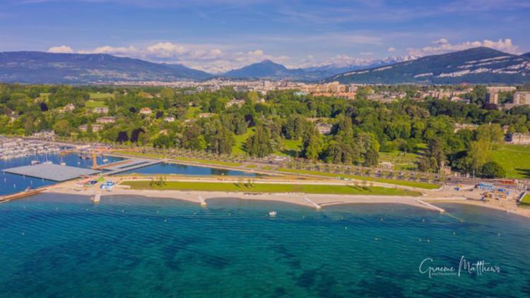 New beach Eaux-vives Geneva