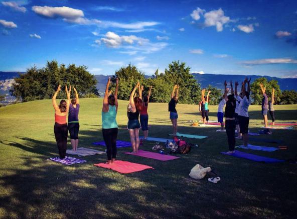 outdoor yoga in Geneva