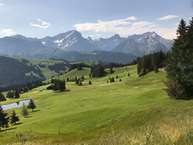 summer break in the mountains Villars Geneva