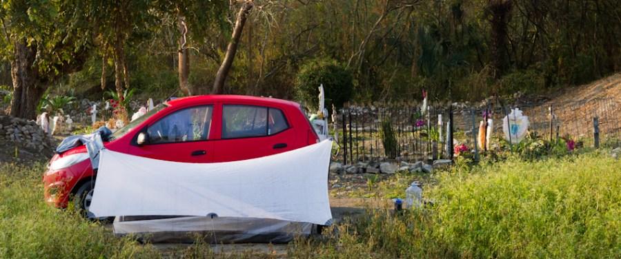 HMG Shelter, Rental Car, Graveyard