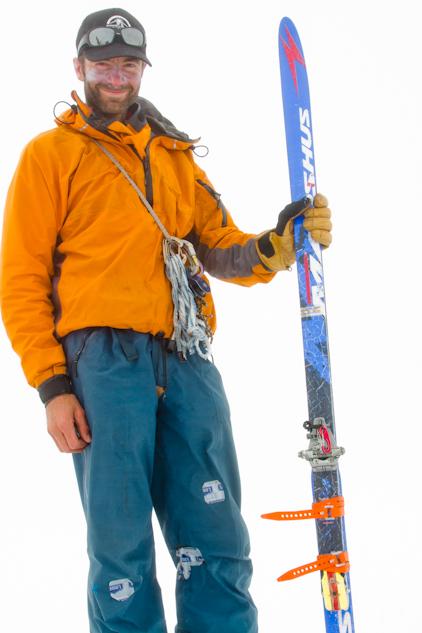 Luc and broken ski