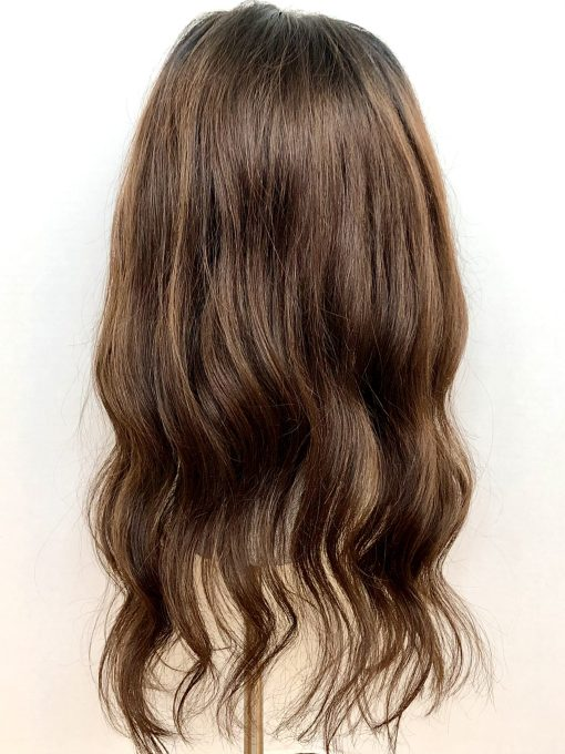 Rooted Brunette Topper Wig