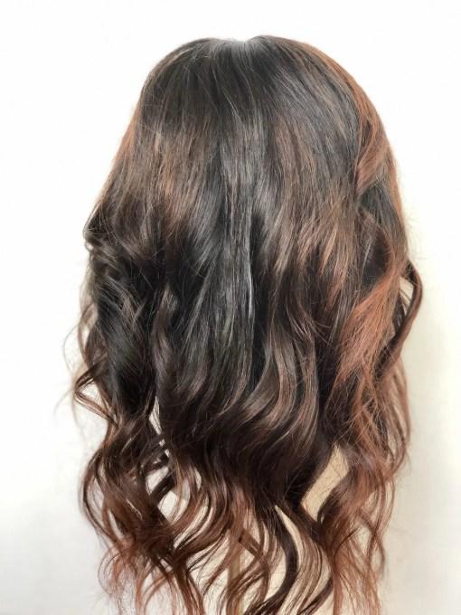 Highlighted Soft Black Wig