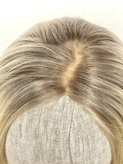 Ice Blonde Topper Wig