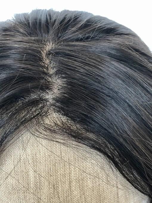 THT Topper: Soft Black Balayage Silk2Lace - Long Length