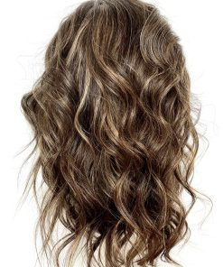 THT Wig: Highlighted Brown – Medium Length