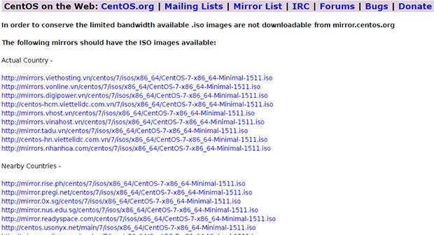link-download-centos-mininal