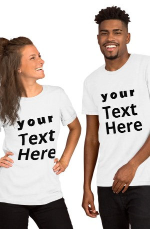 Print Your Text On T-Shirt