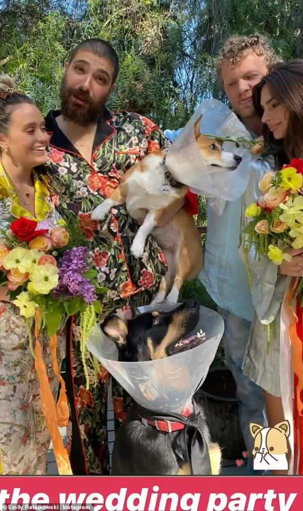 Emily Ratajkowski Hosted A Wedding For Her Dog