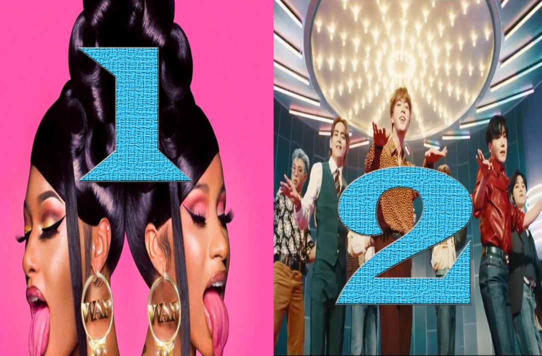 Cardi B Wap Tops 1st And Bts Dynamite 2nd