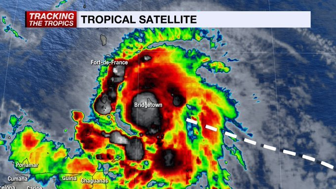 Storm Elsa Strengthened Into A Category 1 Hurricane