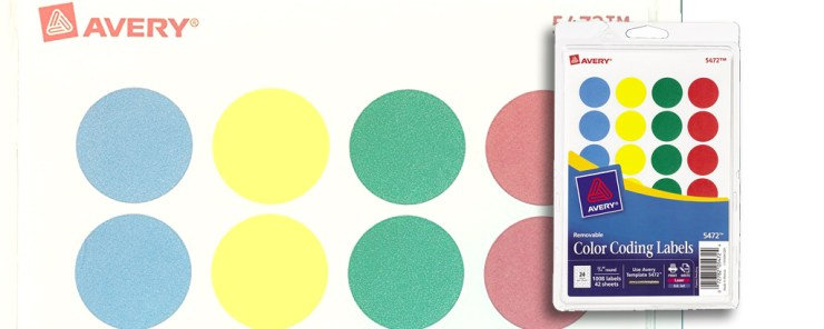 Training Bag Tools - TH!NK Training - Color Dots by Avery