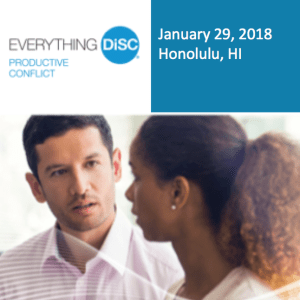 Everything DiSc Productive Conflict Showcase - January 29, 2018 - Honolulu