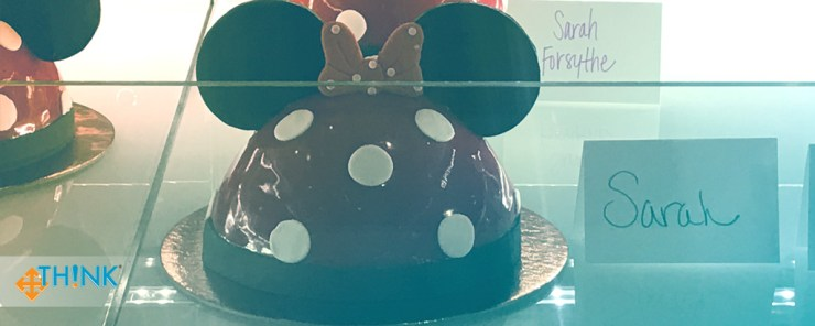 Learning to Expand My Baking Skills at Disney World - TH!NK Training - 05 The cake in the display case