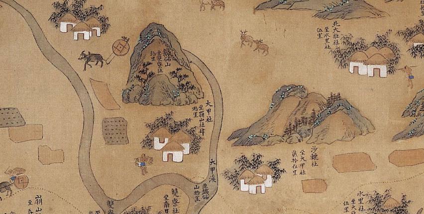 大甲社位置圖(引自臺灣博物館資料)