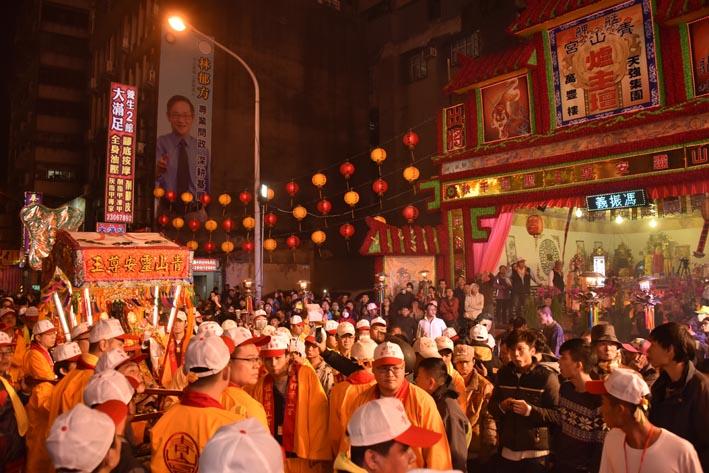 2015年,青山王神輿經過爐主壇
