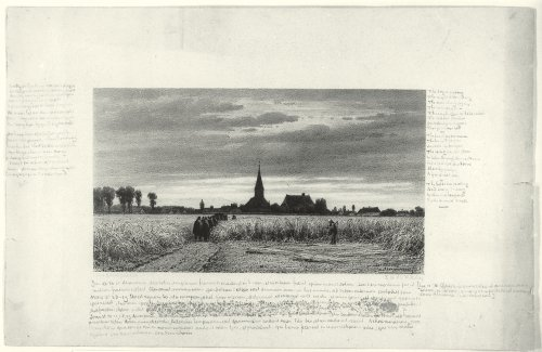 Funeral procession in the wheat field – van der Maaten (with inscriptions by van Gogh)