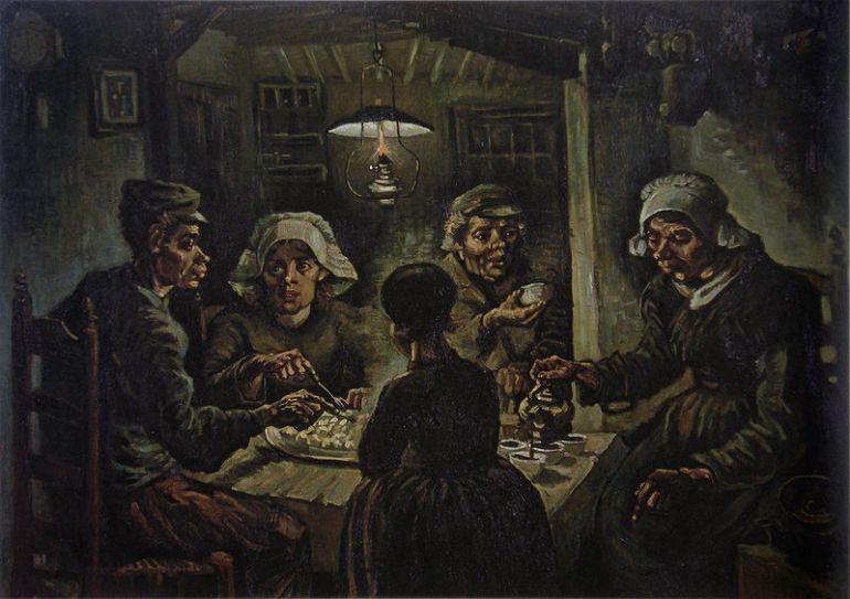 The Potato Eaters – Vincent van Gogh (1885)