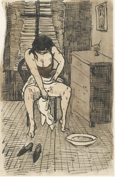 A Woman Washing Herself – Émile Bernard