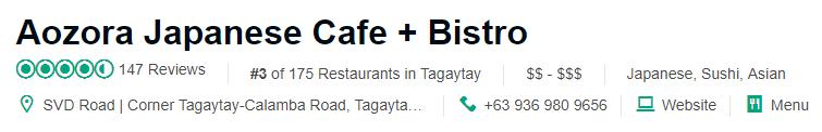 Aozora Japanese Cafe + Bistro  Tripadvisor