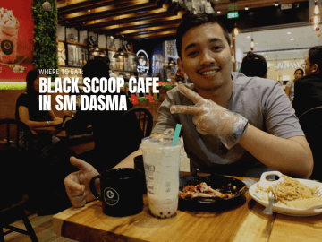 Where to Eat Black Scoop Cafe in SM Dasma