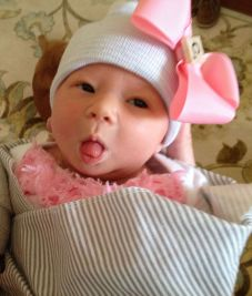 Cora tongue out