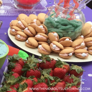 Clam Shell Cookies - Under The Sea Birthday Party theme for kids or adults - decor and snack ideas!