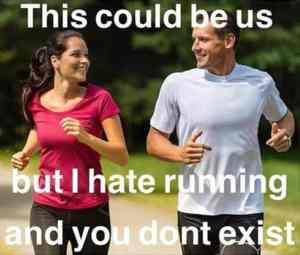 single meme with running