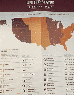 Pray for America - United States Prayer Map