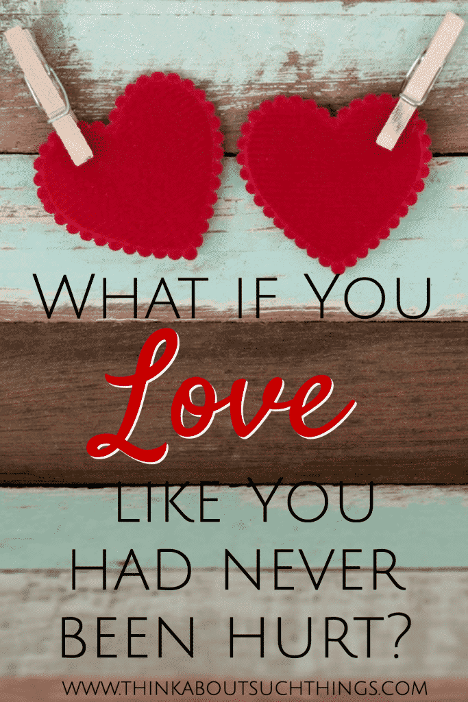 Can you love like you never been hurt? With God's help all things are possible.
