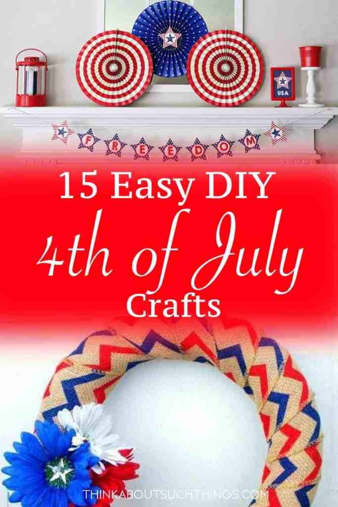 These easy DIY 4th of july crafts will get in the patriotic spirit this summer. Loads of fun for you and the kids.