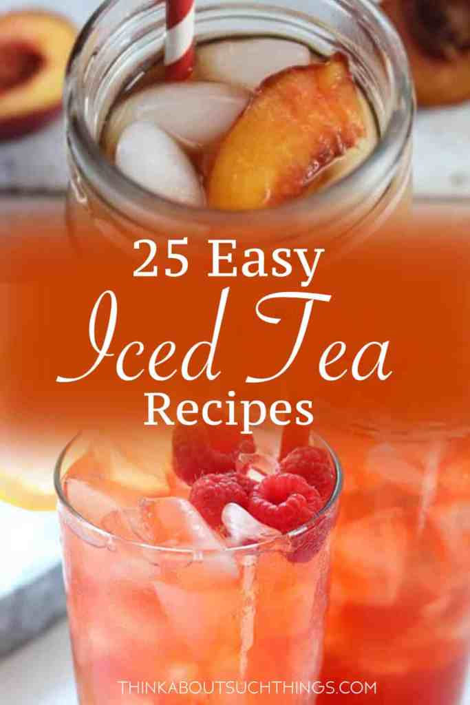 Cool off this summer with these delicious and easy homemade iced tea recipes. Great for a BBQ, picnic or just a relaxing day at home. - Check out homemade iced coffee recipes as well!