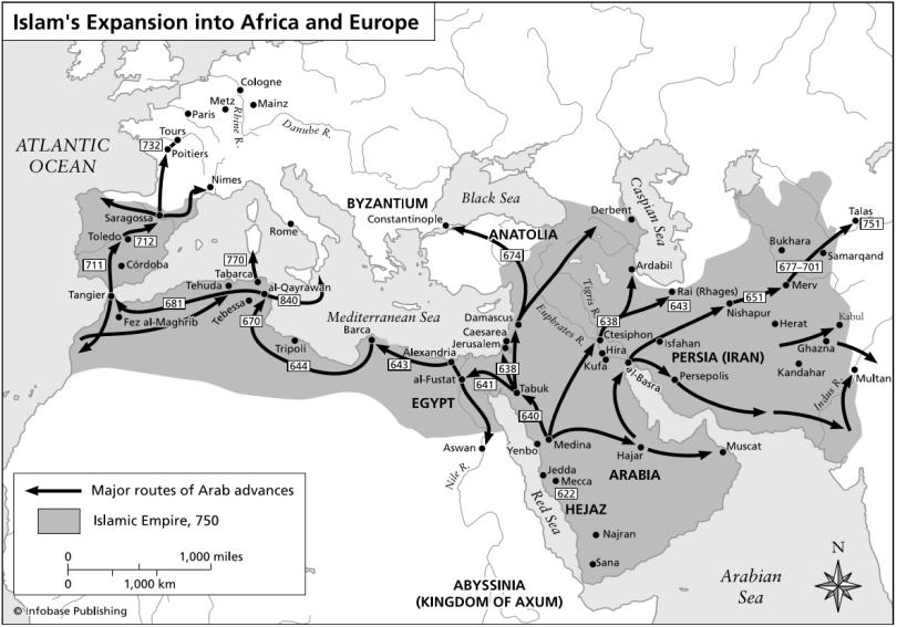 kingdoms - islamic expansion
